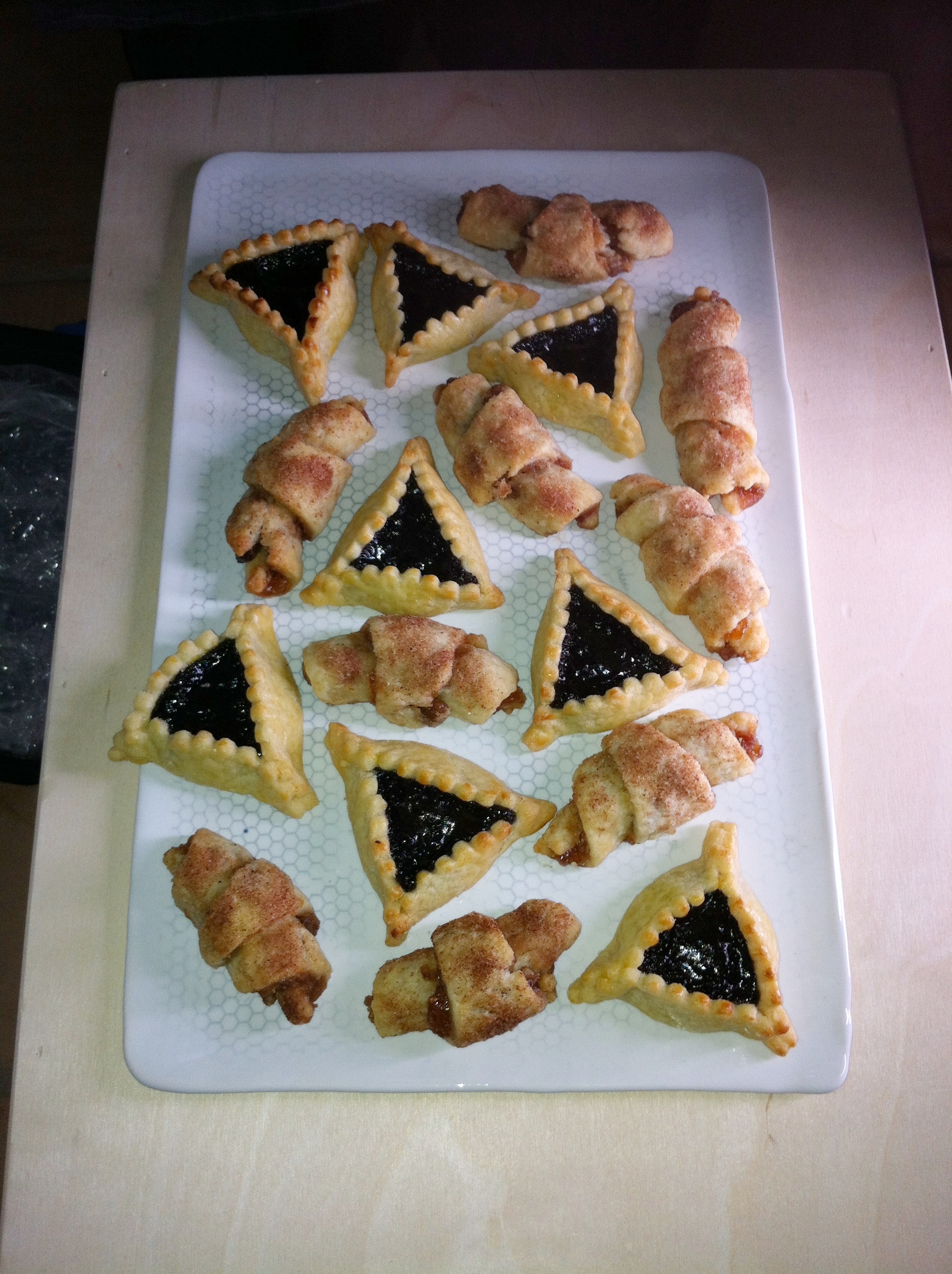 Rugelach and Hamantaschen