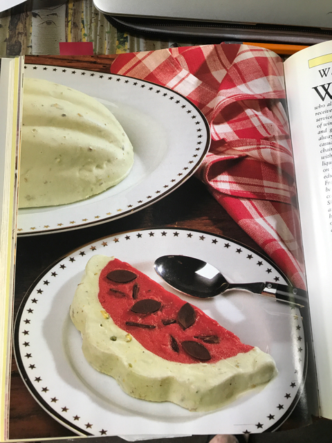 Watermelon Bombe Ice Cream