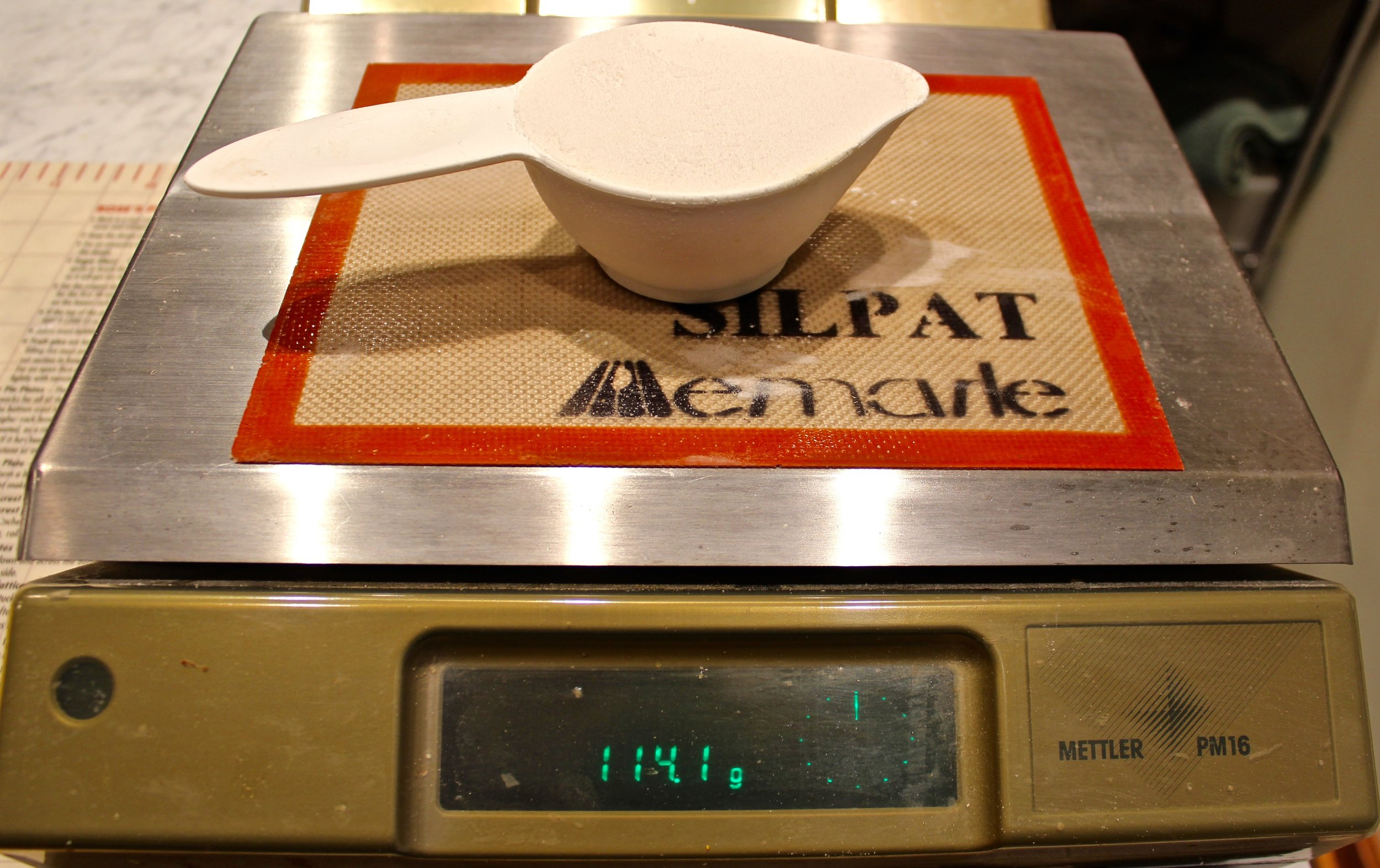 7. 114 grams for sifted