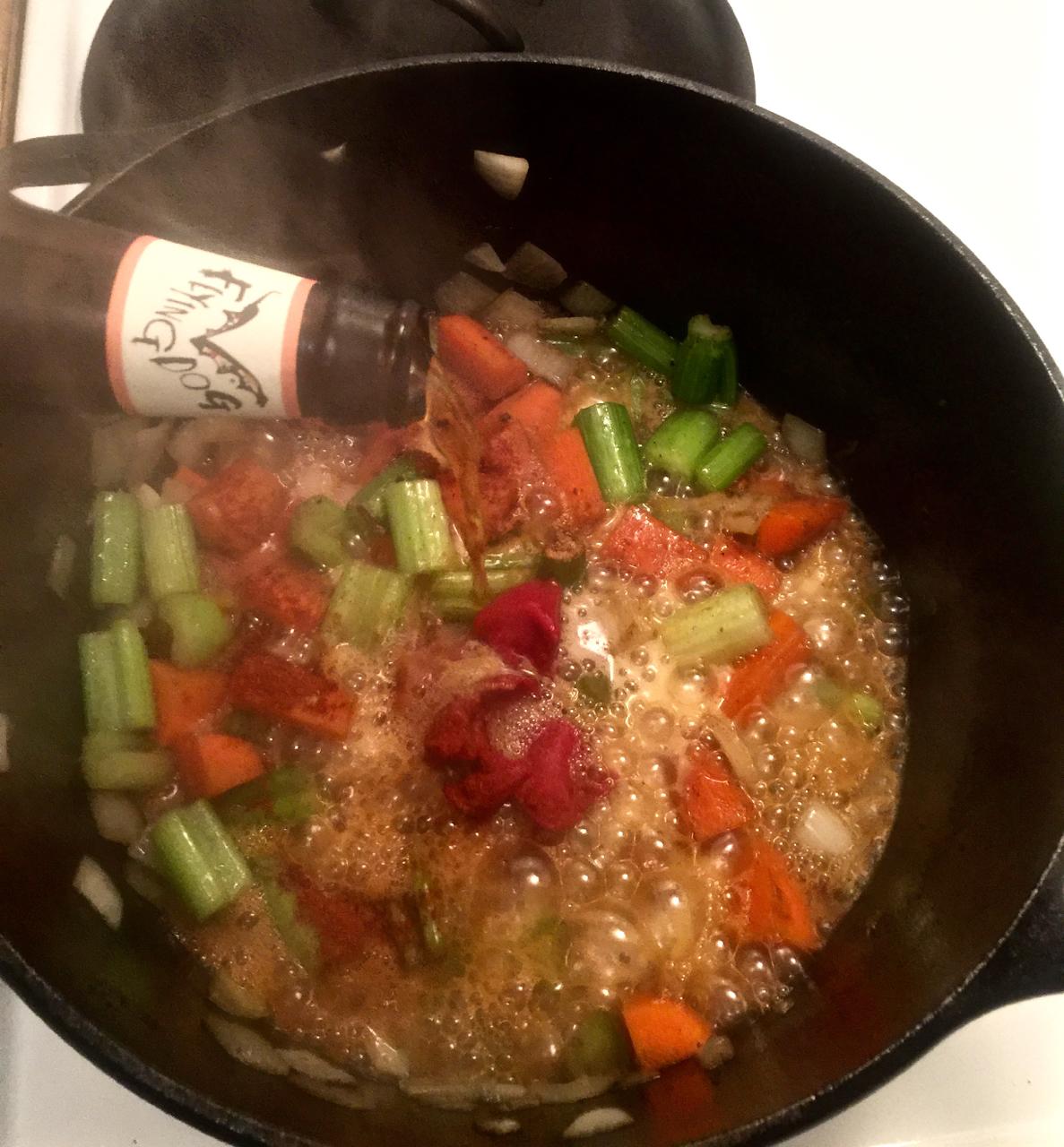 7. Adding beer and seasonings