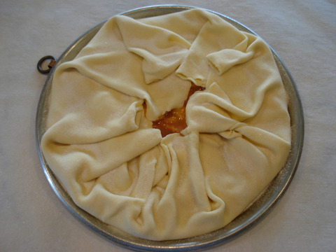 6) Draped dough to complete the galette