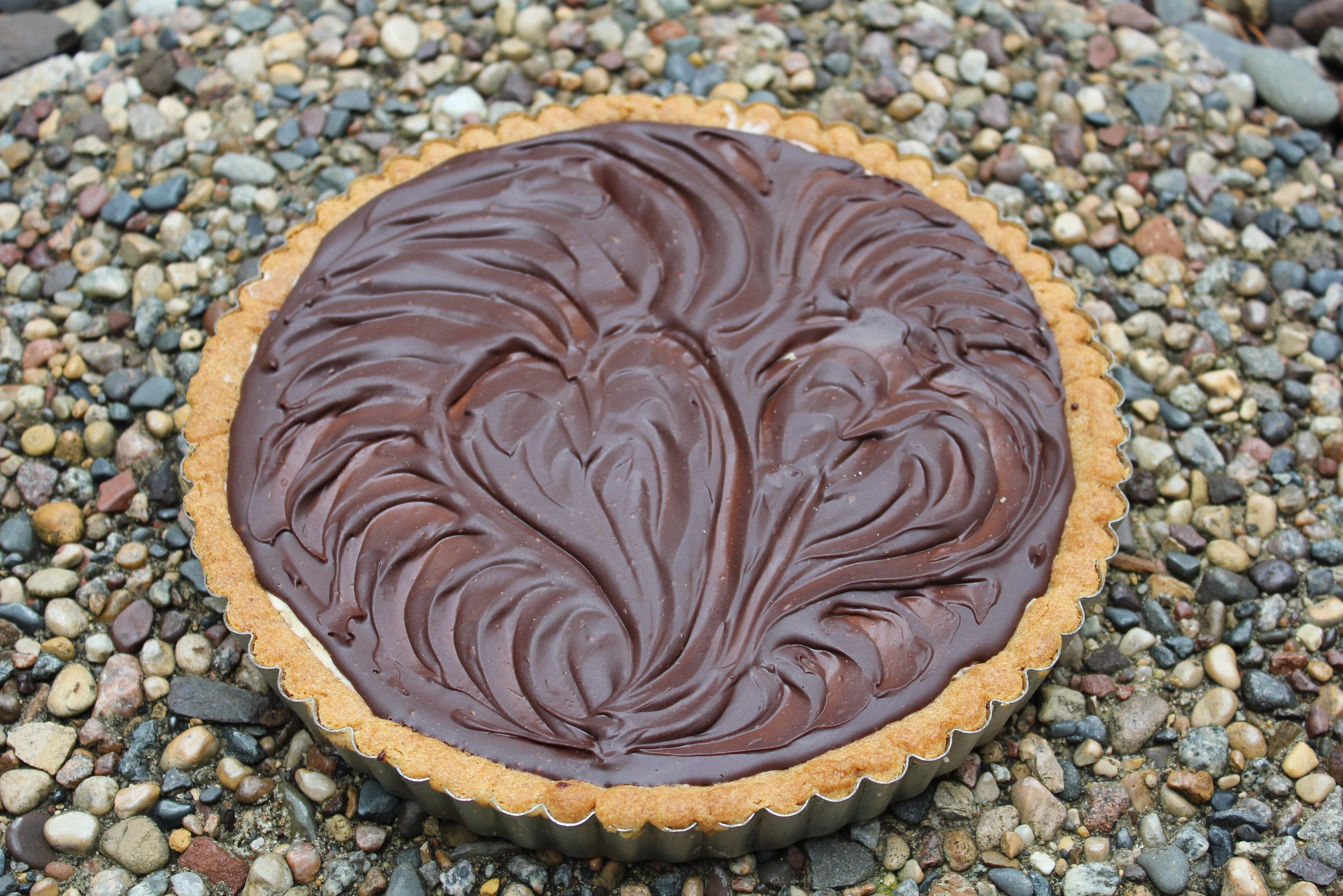 CHOCOLATE HAZELNUT MOUSSE TART from the BAKING BIBLE