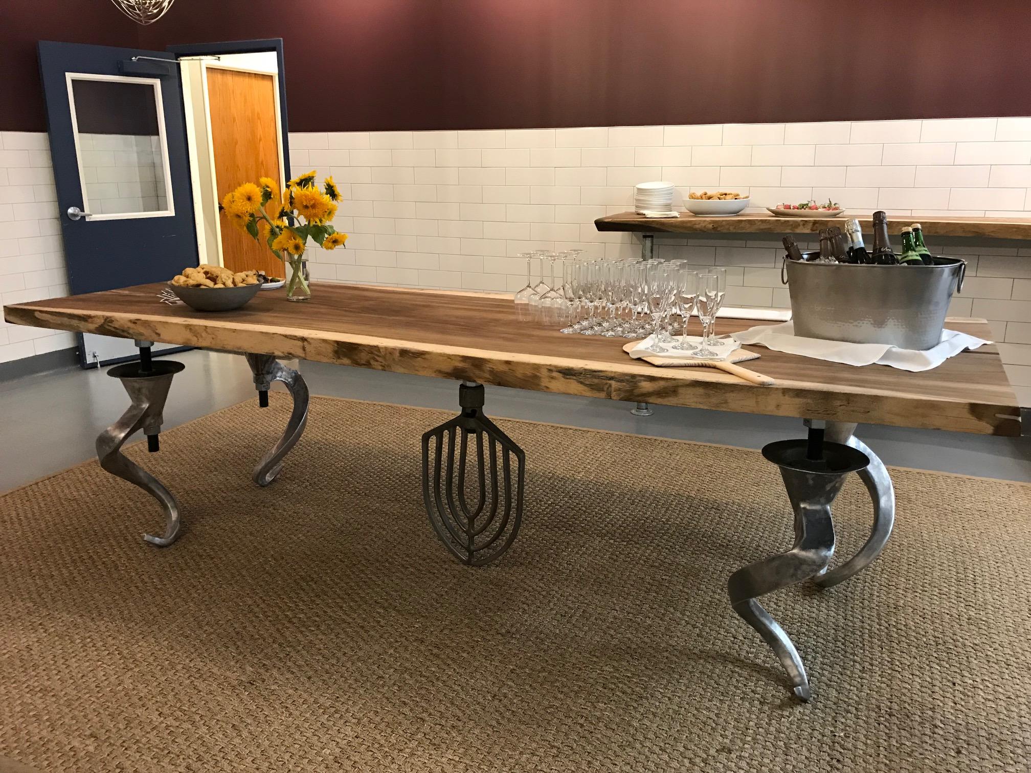"""Artisan """"book signing"""" table"""