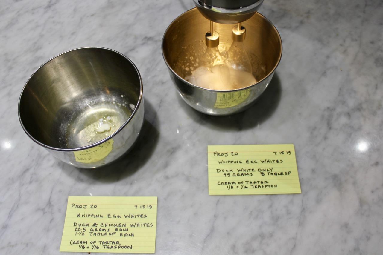 Measured egg whites with cream of tartar