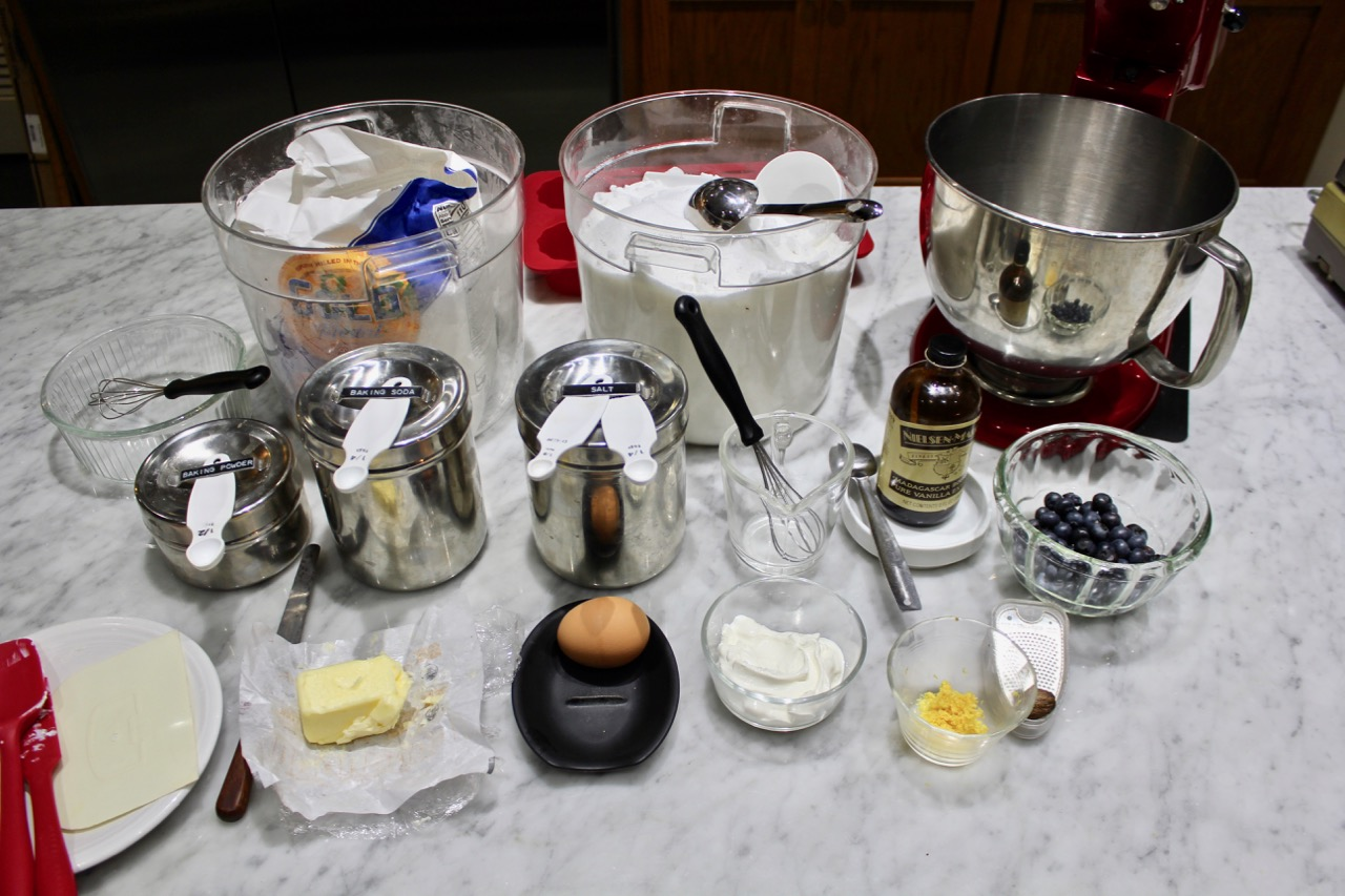 Mis en Place : having all of your ingredients at your available before proceeding to make your recipe