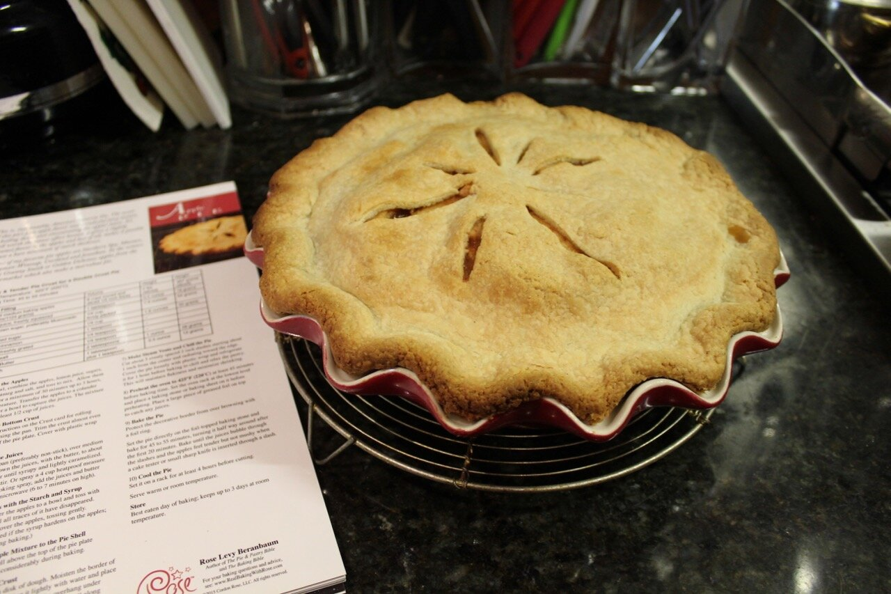 APPLE PIE in Rose's Perfect Pie Plate Rose's Pie Booklet alongside
