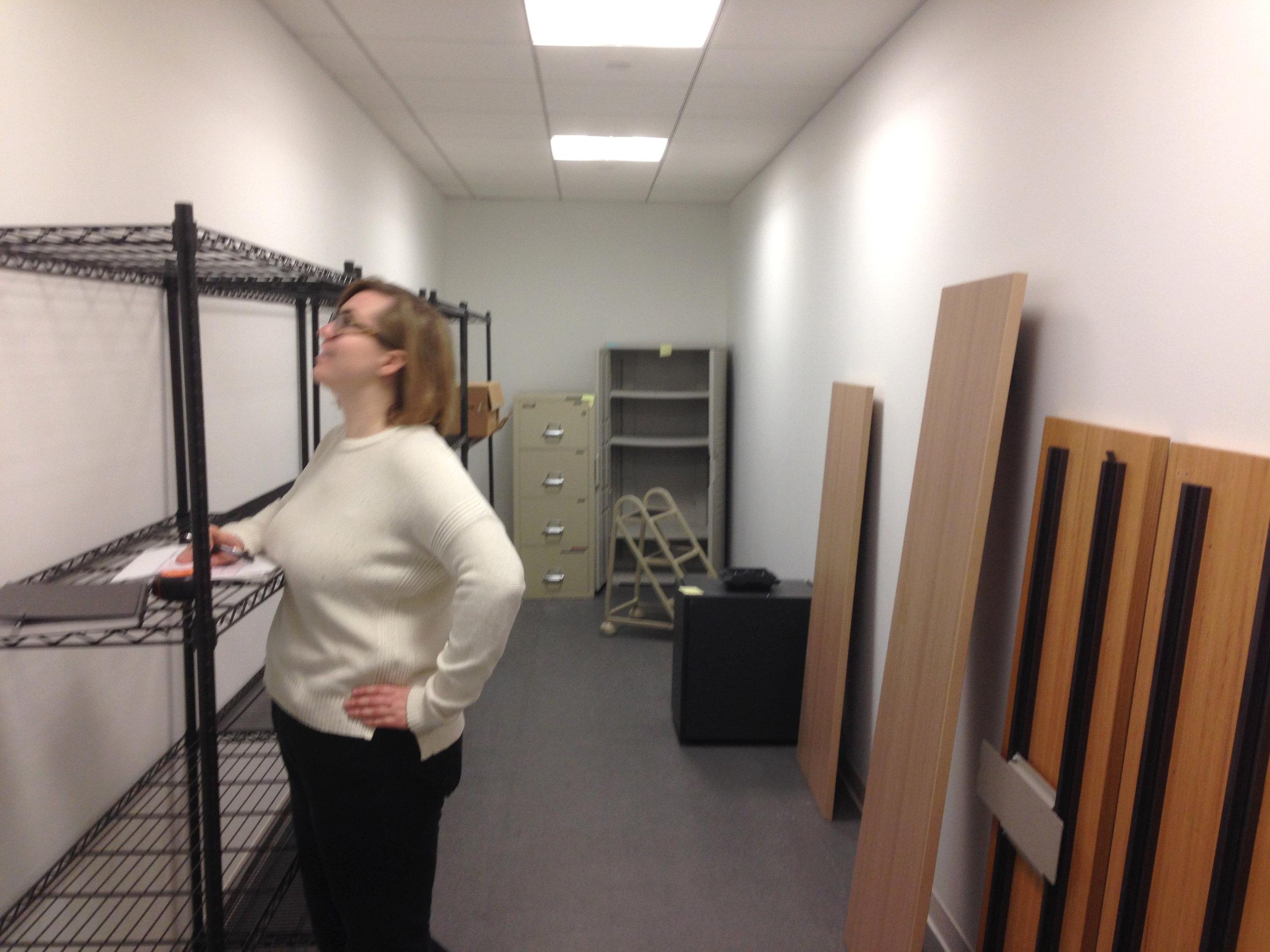 Storage room prior to transformation