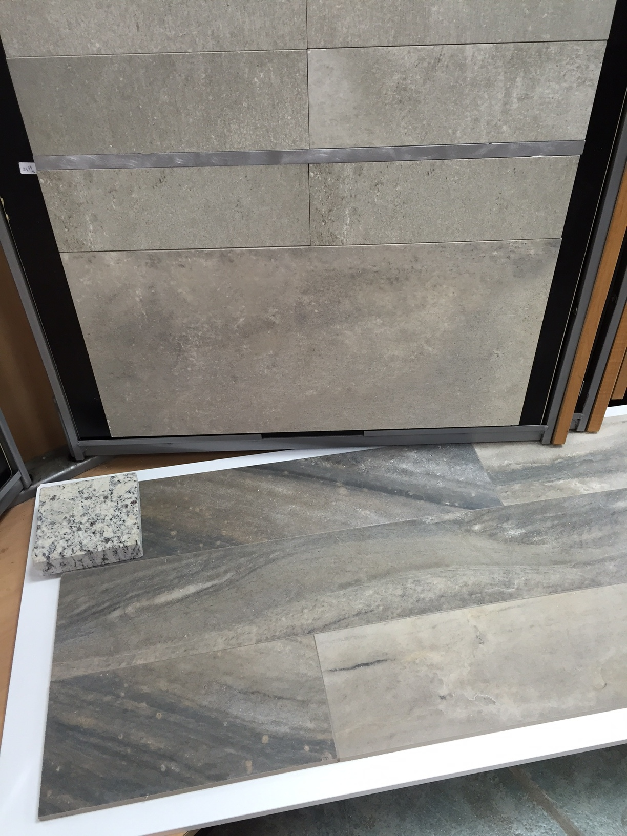 Tile Selection - For the shower walls and around the tub deck we chose 4