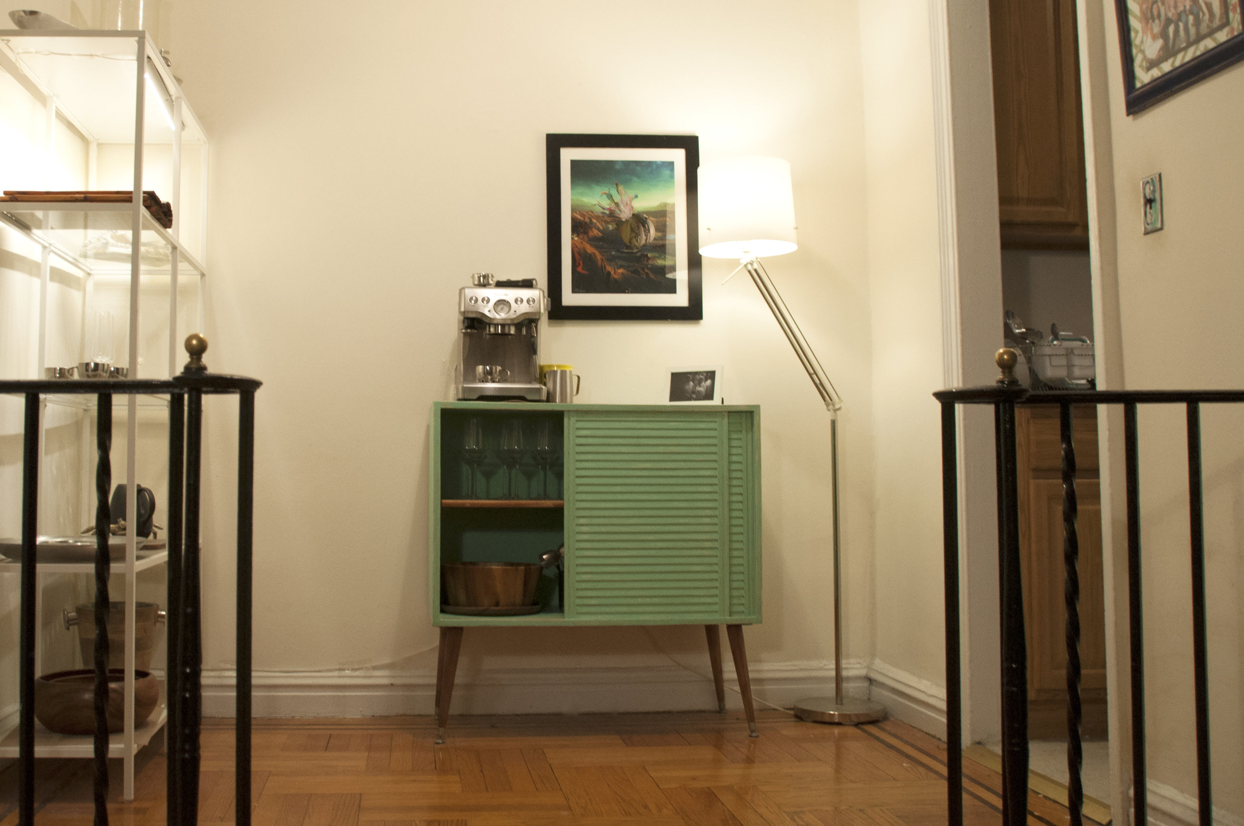 Our new coffee maker stand