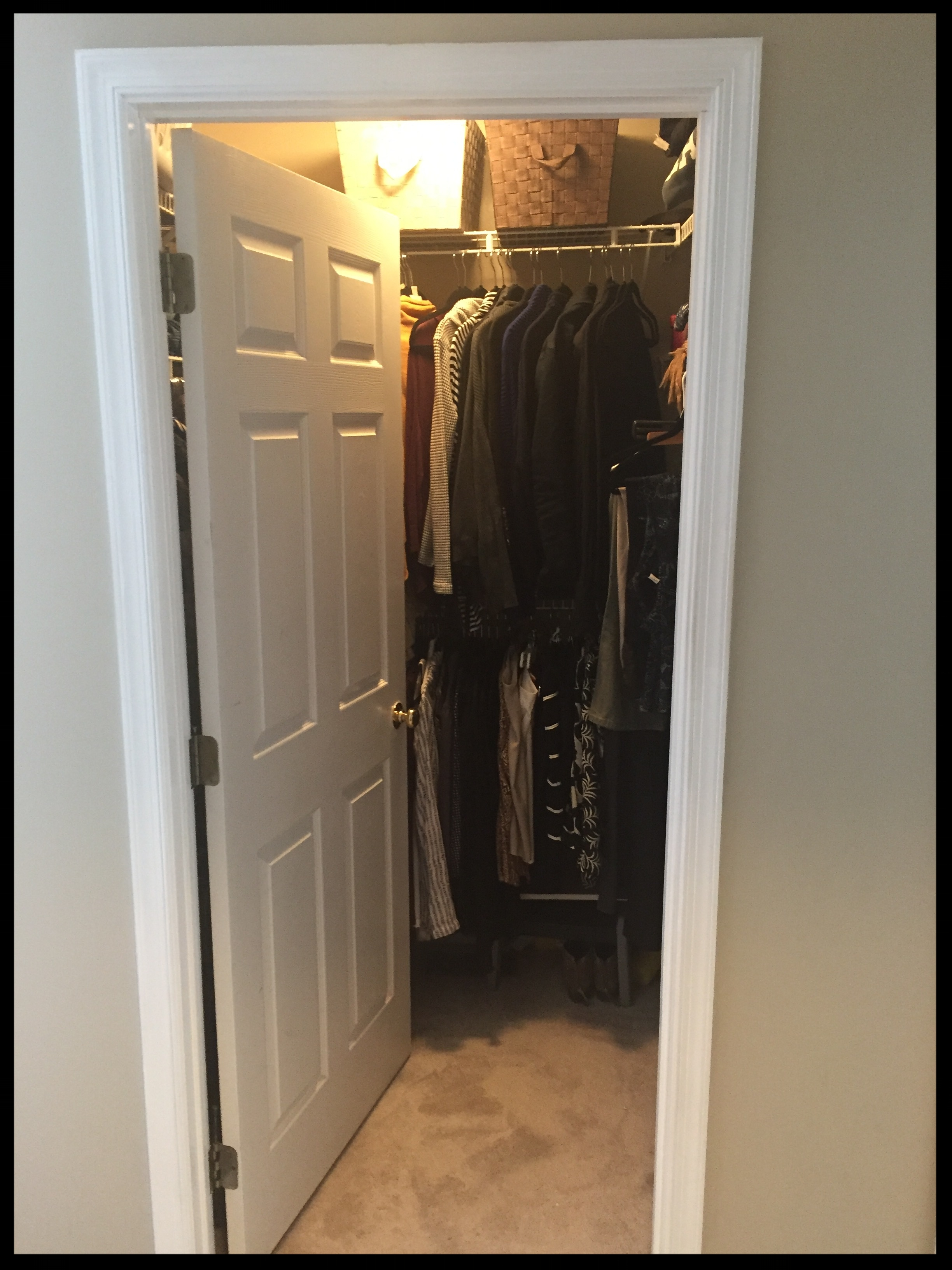 Poorly designed closet door - Blocks access to closet contents
