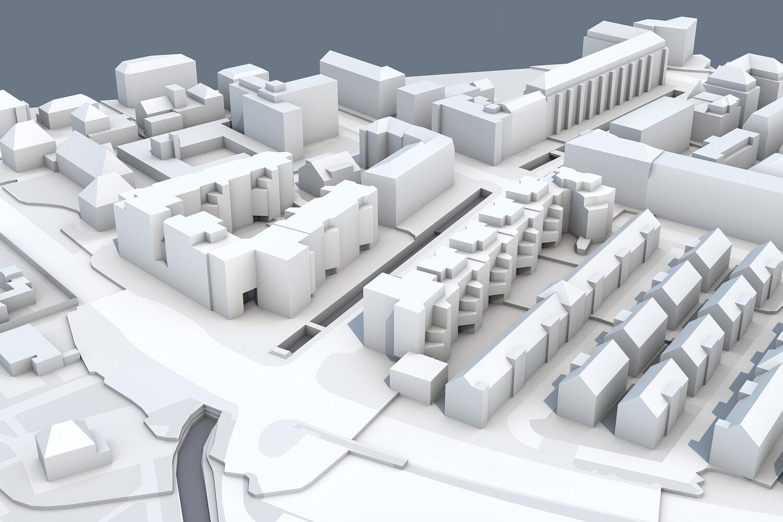 Areal Hornbach - ohne neu geplante Schulen und Kindergärten