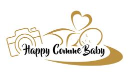 Logo Happy comme Baby photographe spécialisé nouveau né bébé et grossesse