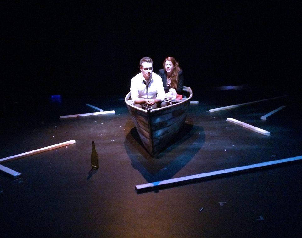 Production photo of  Drifting   L-R: Simon MacIntyre and Taylor Scott