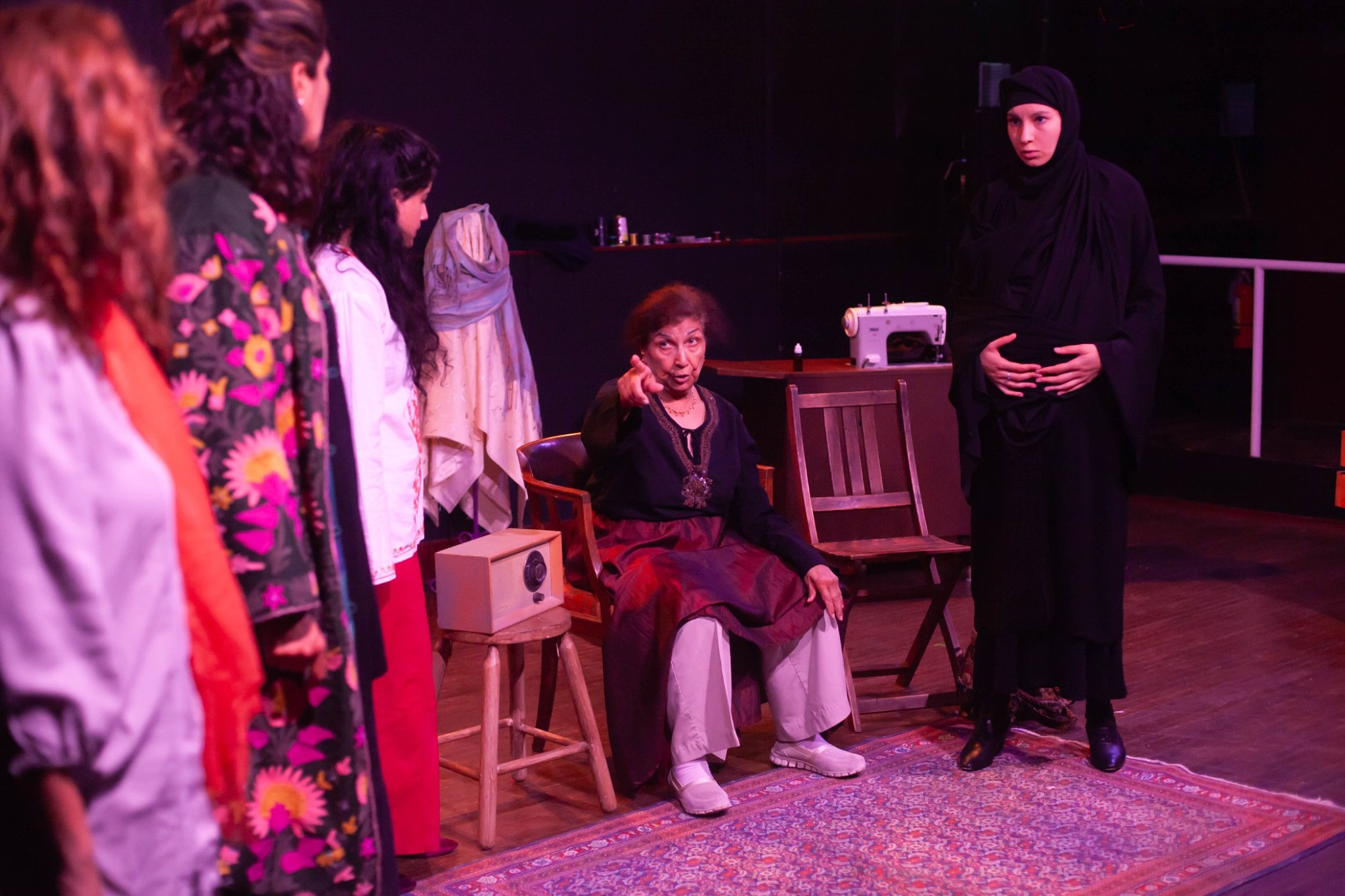 Production photos by: Jayda Paige Photography  Featuring L-R: Peri Allan, Yasmin Tayob, Sabrina Vellani, Balinder Johal and Talietha Sangha