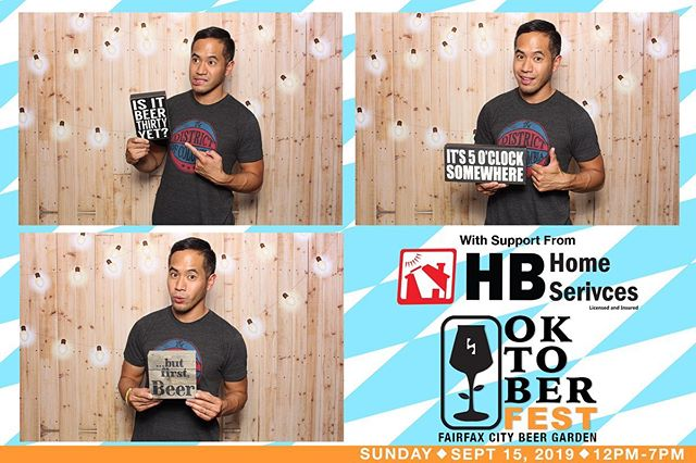 "Thank you @highsideva for having @photoshootfreshdc for your Oktoberfest - Fairfax City Beer Garden 2019! Here's a sample template from the event along with our set up using our light wood backdrop with lights.  We love these beer-centric props we've found. 😆 Hit ya up if you're looking to make your next event ""Photoshoot Fresh!"" #photoshootfreshdc #highsideva #fairfaxcitybeergarden"