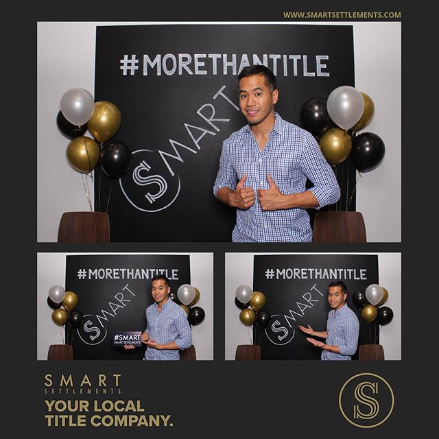 "Our custom template and set up for @smartsettlements Arlington office Grand Opening in Clarendon tonight. For their event we also did custom signs that they'll be able to use later on after the event for their closings and we're also using their sweet chalkboard photo wall for our backdrop. 👊🏽 Hit us up if you're looking to make your next event ""Photoshoot Fresh!"" #photoshootfreshdc #smartsettlements"