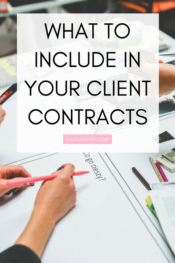 What to include in your client contracts | Easy As VAT | UK financial coach for female business owners