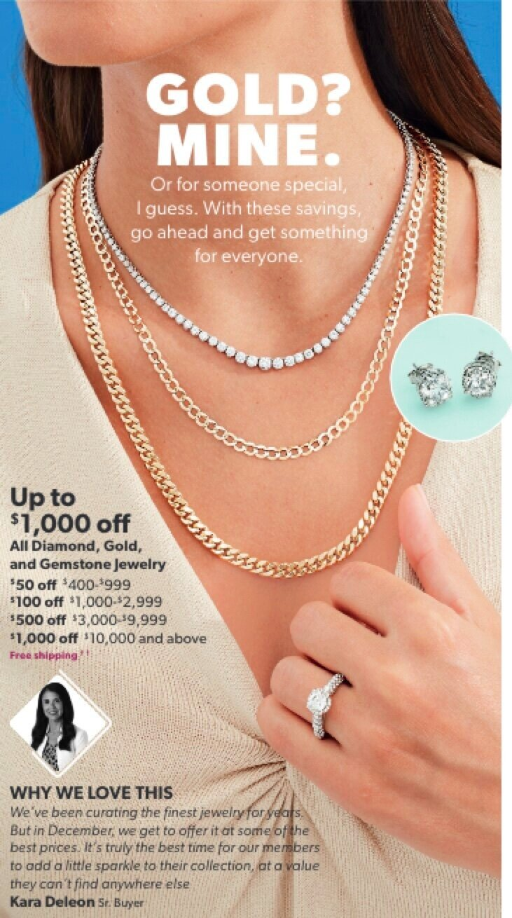 Jewelry Ad for Savings Event Catalog