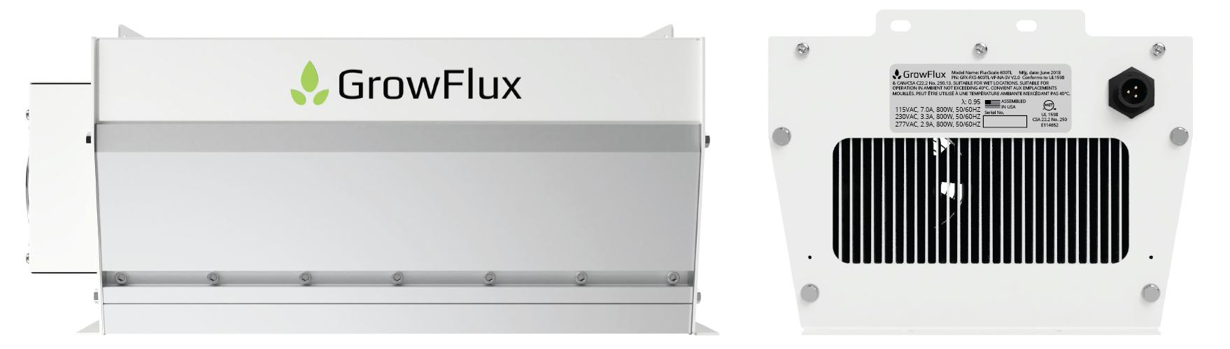 FluxScale fixture 2 elevation views
