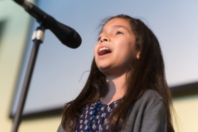 Voice student performs in Bravo's Annual Spring Recital