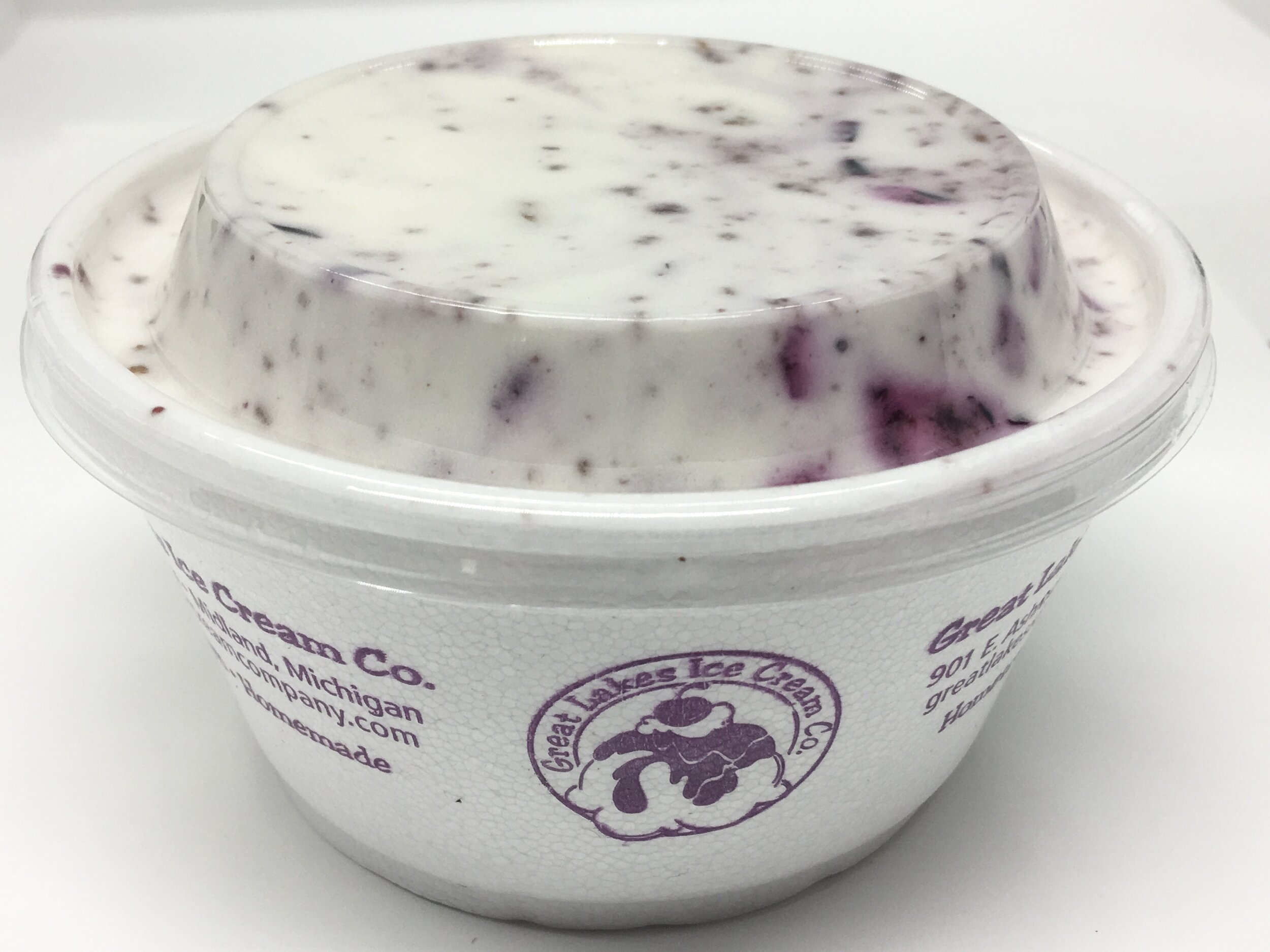 BLUEBERRY WAFFLE CONE - We custom made this flavor for a farm that provided us with ready to use blueberry puree that they made from their own fresh grown blueberries.