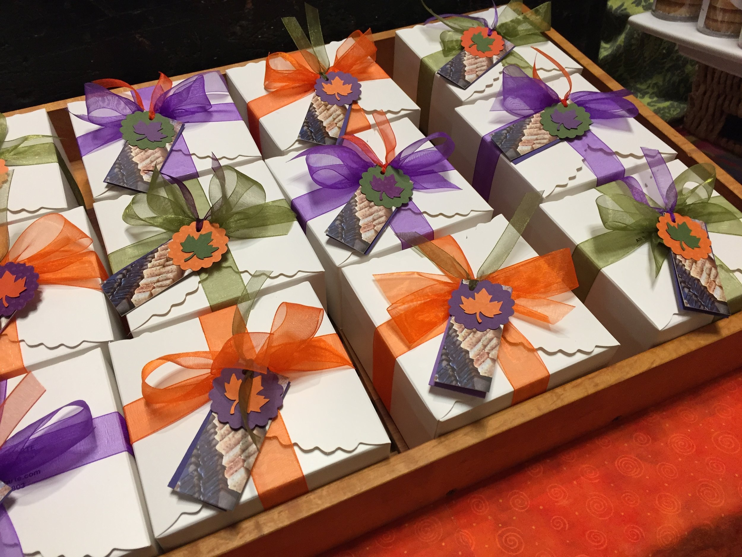 Autumn shortbread gift boxes