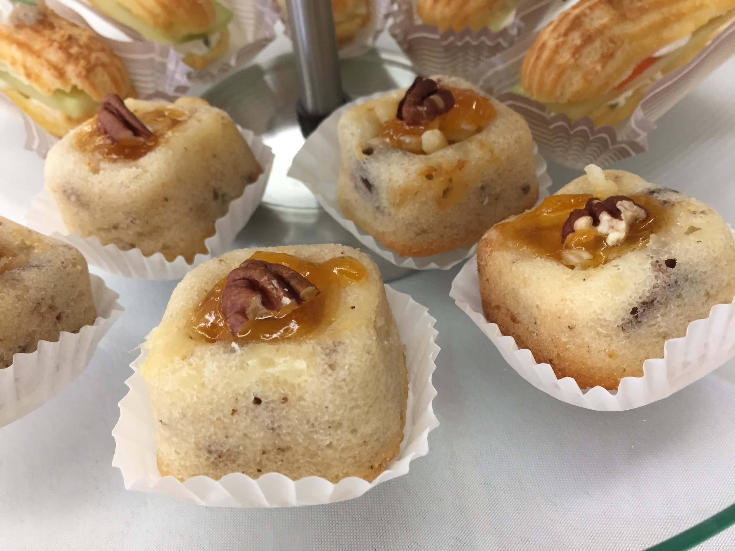 Cheddar pecan financier