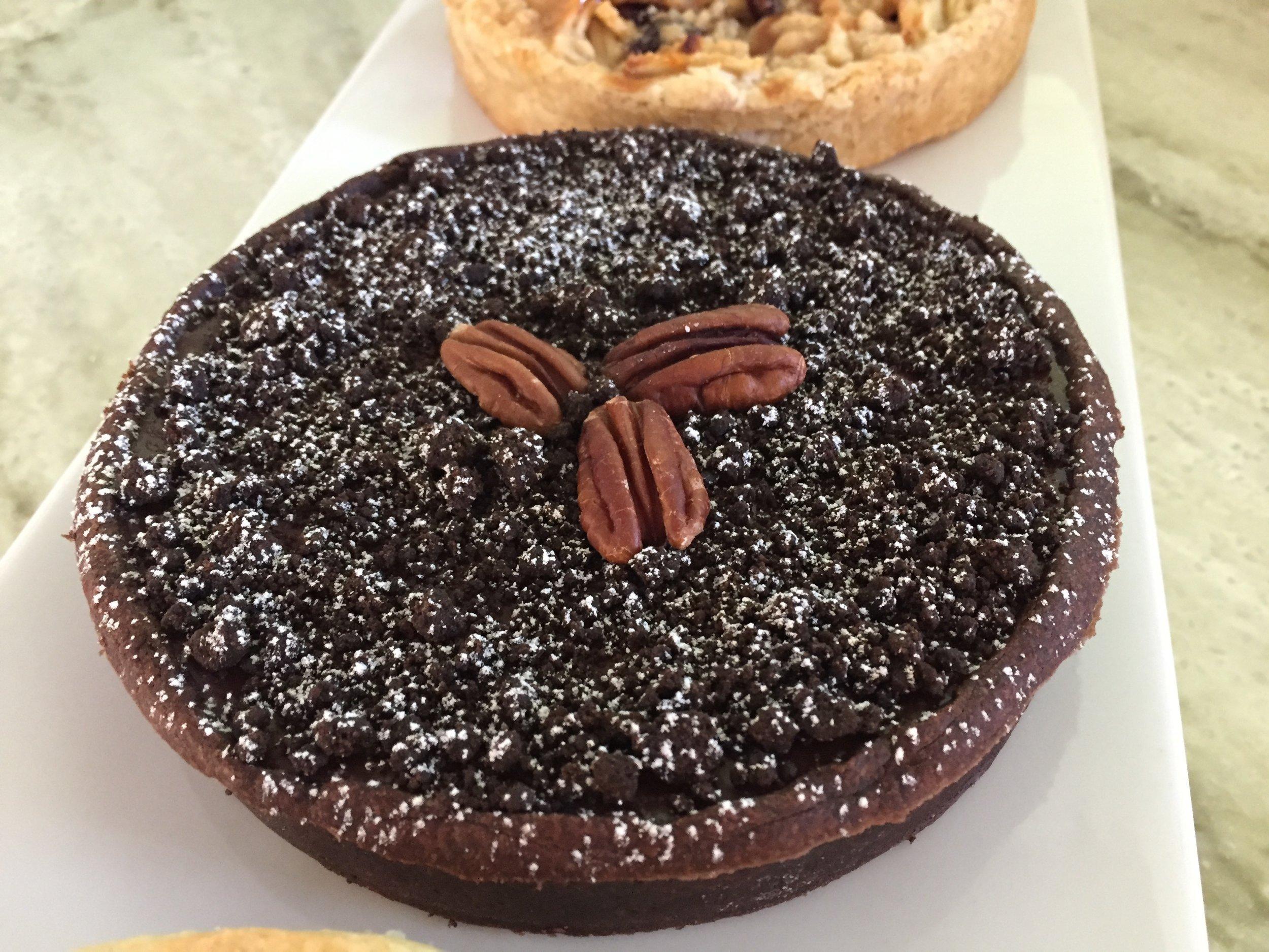 Pecan caramel chocolate truffle tart