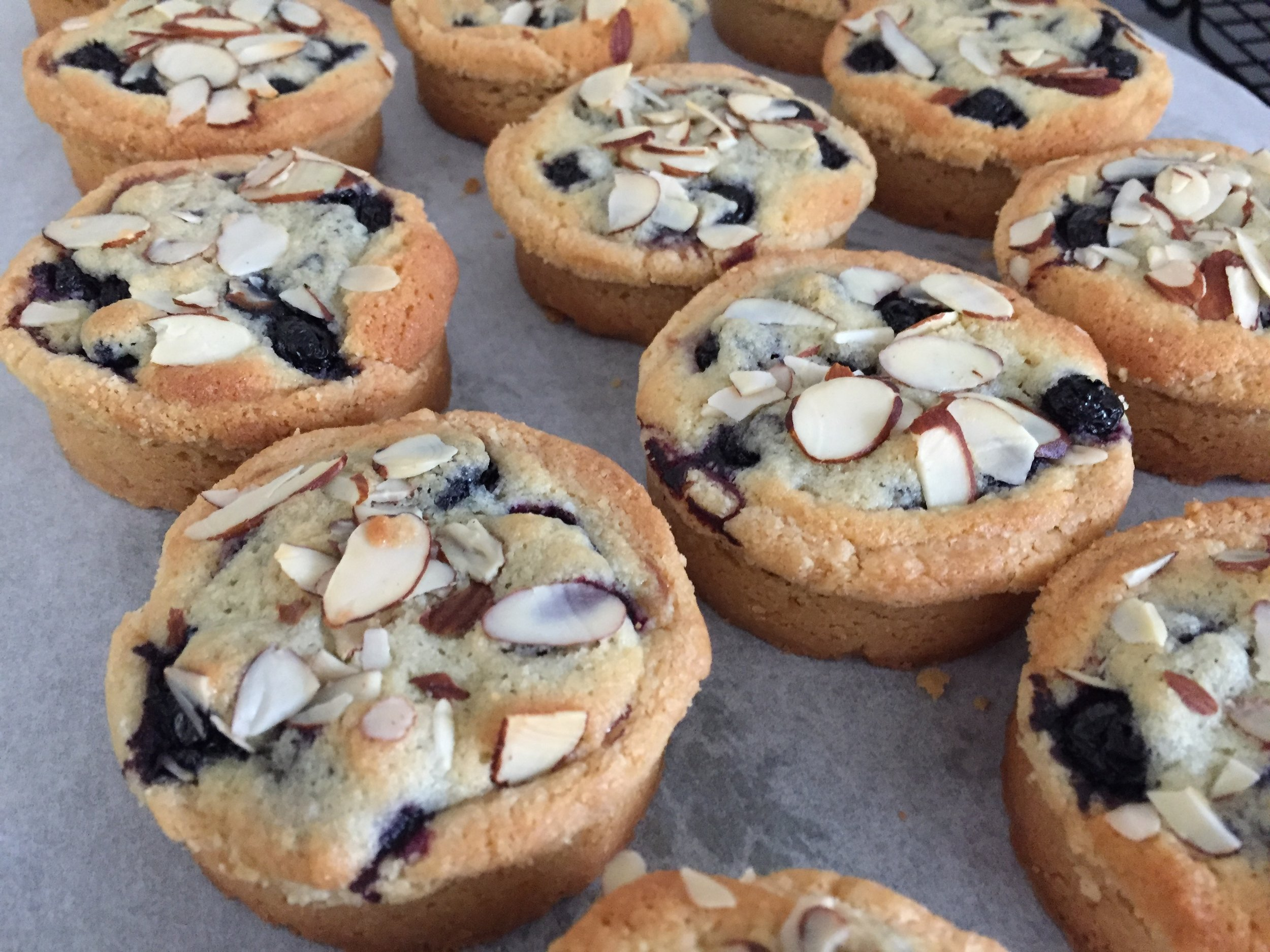 Breton blueberry almond tarts