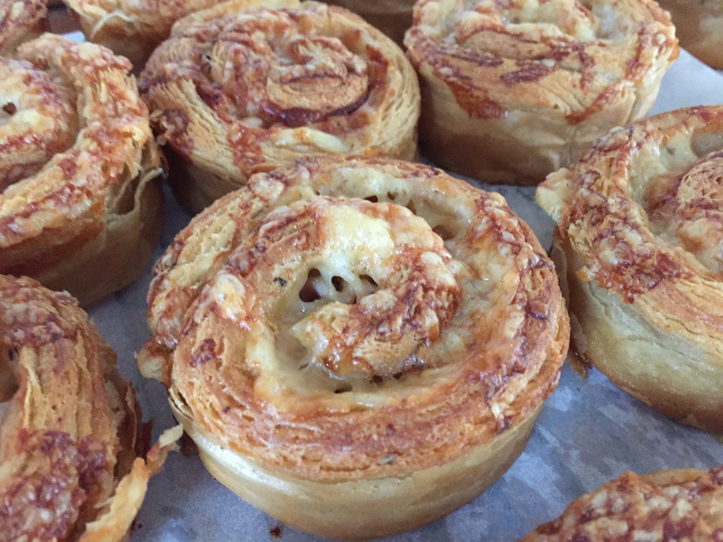 Ham and cheese whole wheat spirals