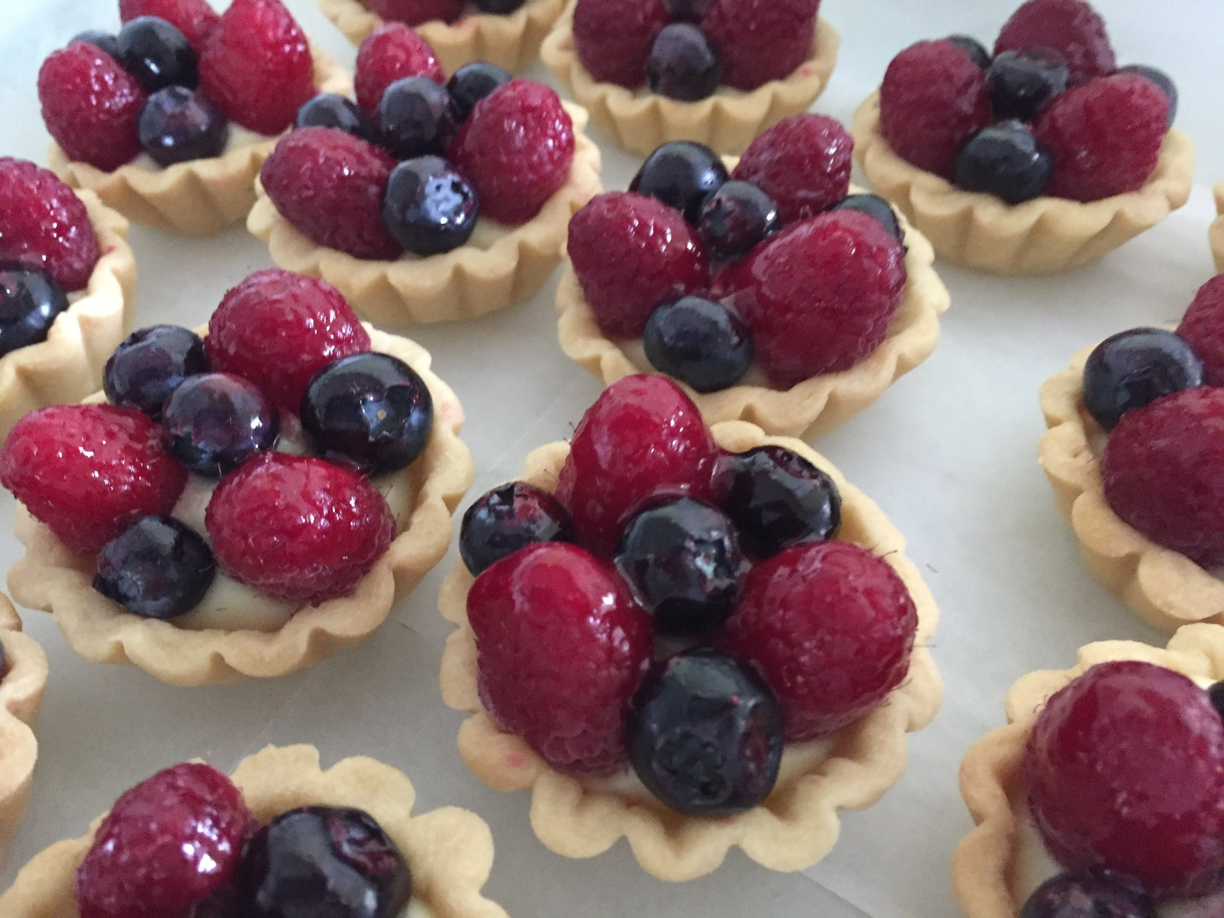 Fresh berries / pastry cream / raspberry  gelée  (yes - you've seen these before!)