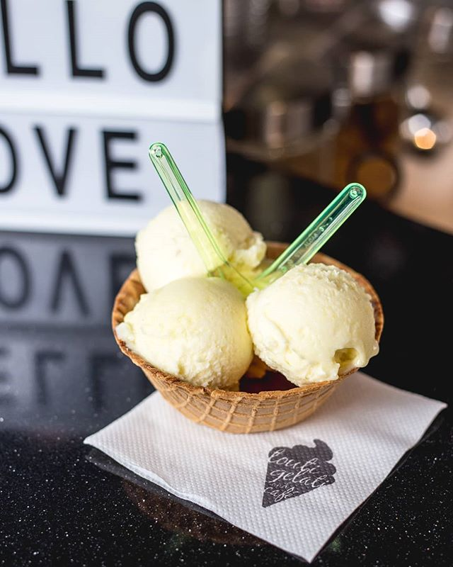 It's getting hot and sunny 🌞 and we're craving tropical flavours! Try out our pineapple 🍍 and other real fruit sorbets today!  PS: We're currently offering $1 Iced Coffee exclusively on the @Ritual_Co  app! 🥤  #RitualDollarDrink #MyRitual #TheSweetSpot