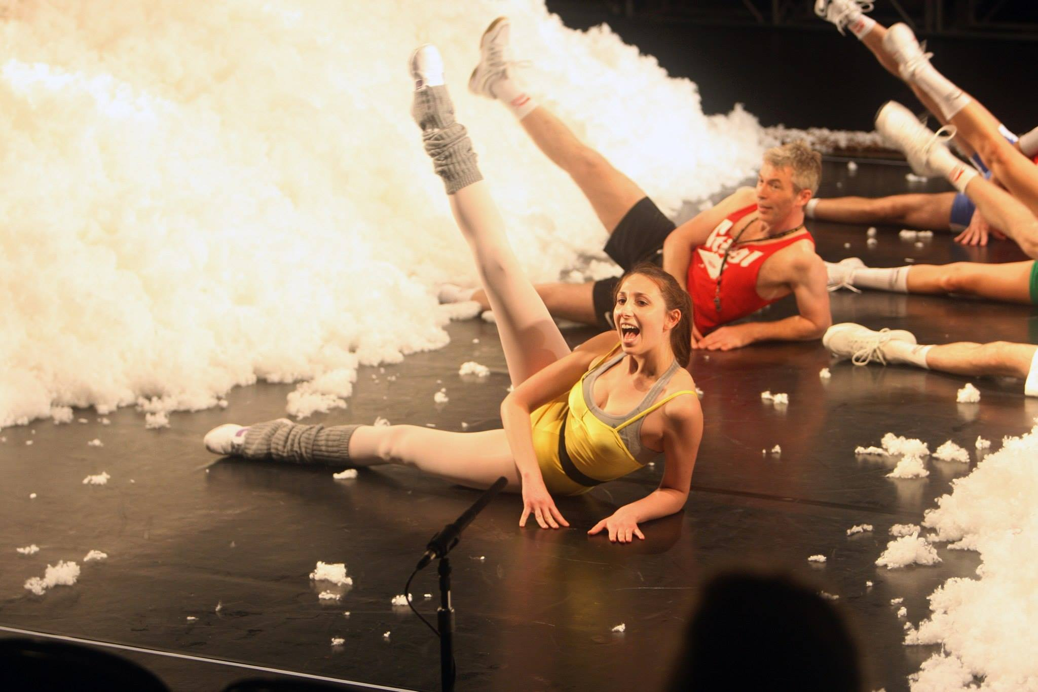 Nina Hatchwell's fitness video... quirky, funny and charged. - Sports Play by Elfriede Jelinek - UK & World Tour.