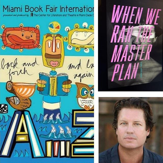 """Named as a """"2019 Emerging Author,"""" Tennison Long will be reading from his second novel, When We Ran The Master Plan, at the Miami International Book Fair in November..."""