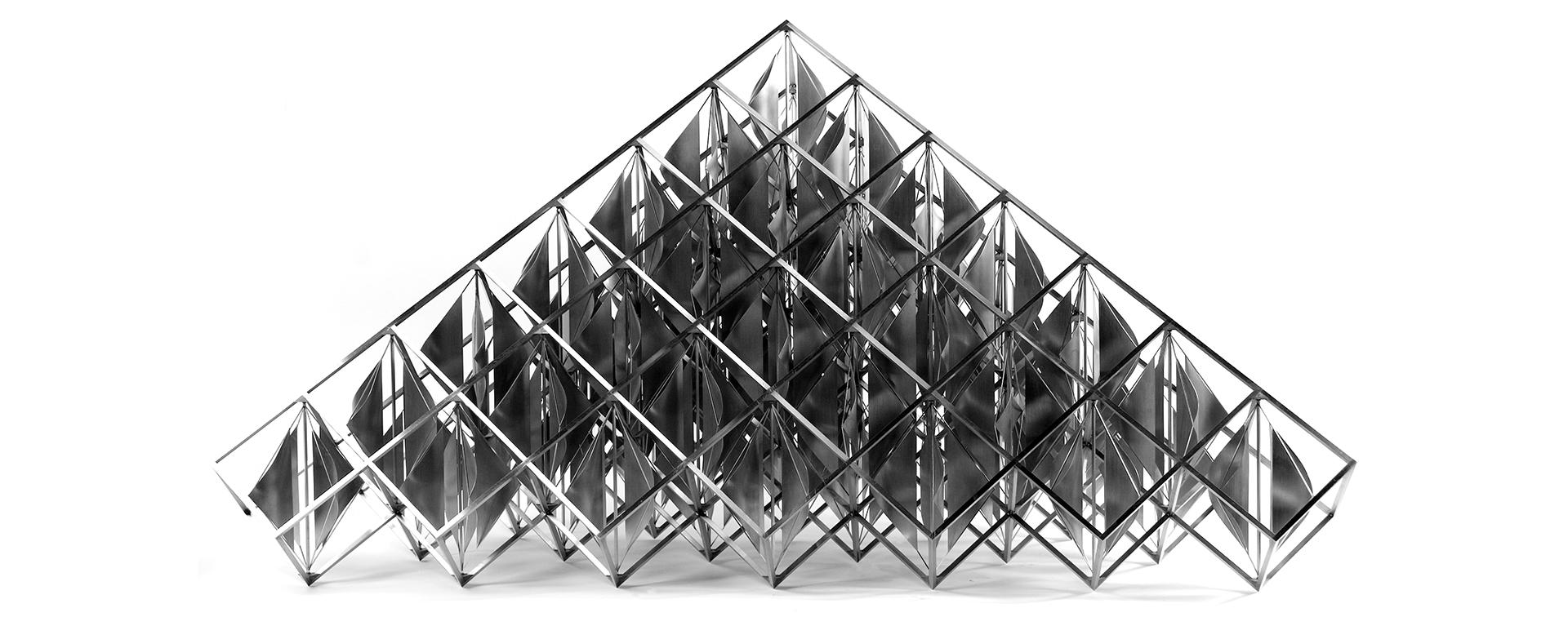 Alejandro Otero (Venezuela, 1921–1990)  Delta solar , 1979,Stainless steel and aluminum. Gift of Beatriz & Manuel Kohn