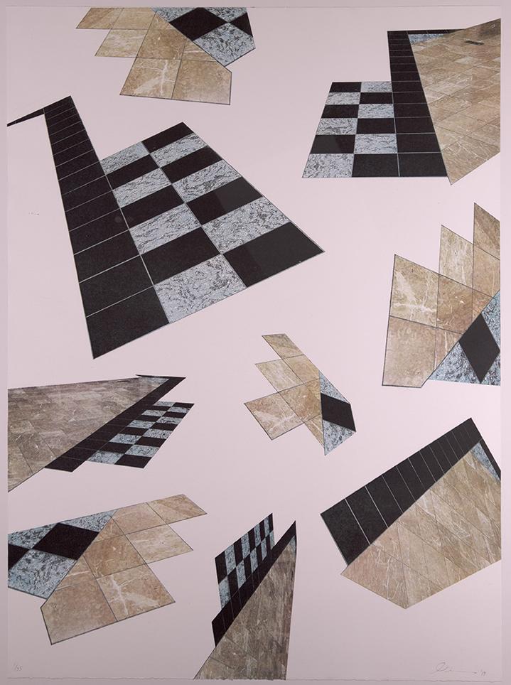 Arizona State University Lithographic Press,  Tempe, Arizona, US  Metrocenter , 2019, Lithograph, 30 x 22 inches, Courtesy of the artist