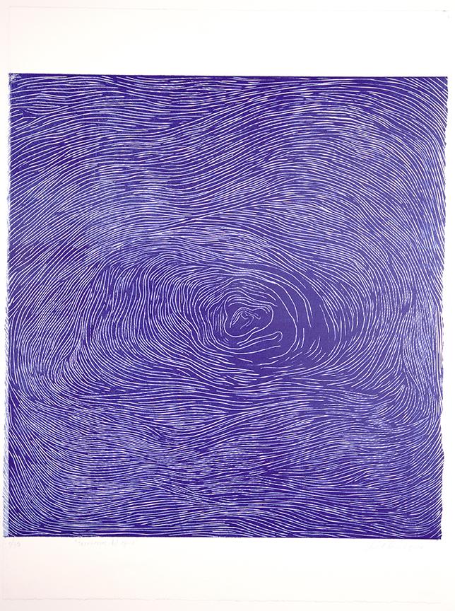 "Taller de Litografía del Museo de la Carcova ""Aida Carballo""  And  Under Pressure Press,  Buenos Aires, Argentina  Territories of Water , 2018, Woodcut, 30 x 22 inches, Courtesy of the artist"