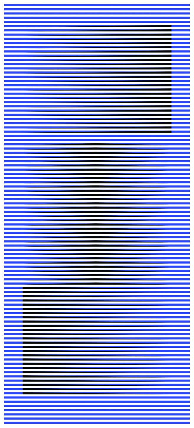 Carlos Cruz-Diez (Venezuela, 1923-2019).  Induction du jaune , 2007. Chromograph on paper mounted on aluminum, 70 7/8 x 31 1/2 inches. Gift of the artist.