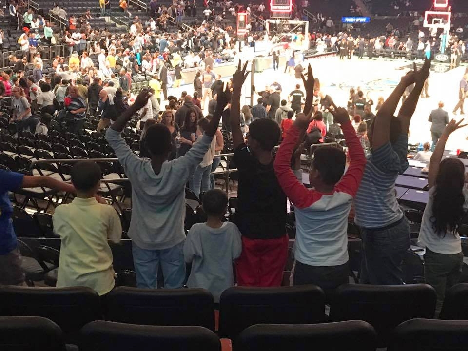 Westchester Athletics, Inc Wolves taking in a NY Knicks game