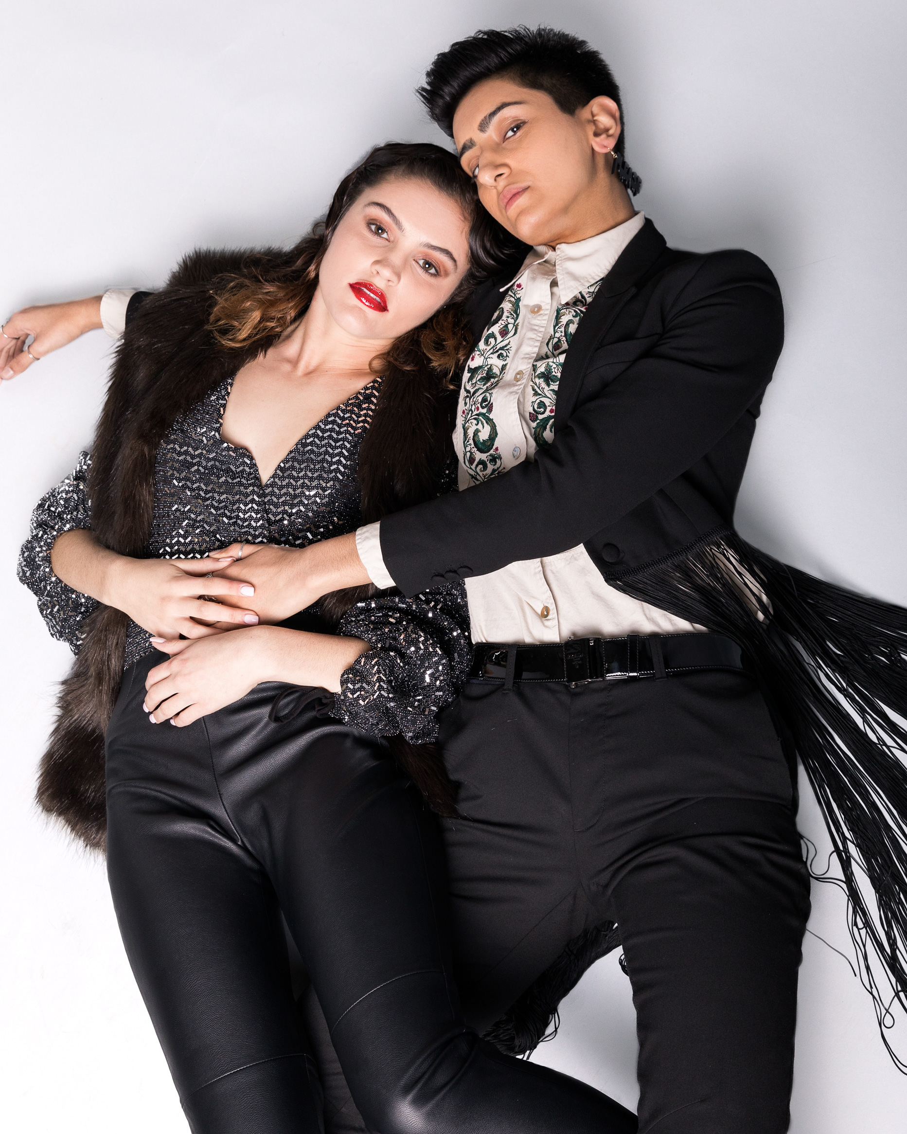 002.02 - // photographer: luis martinez // models: rabia + zoe // hmua: michaela lew // creative director : calli martin// rabia's stylist: kelvin reyes // zoe's stylist: calli martin