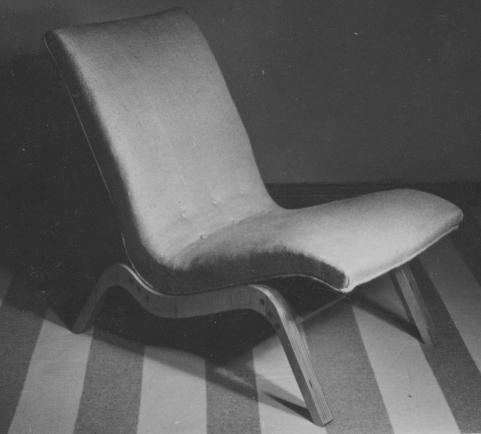 Relaxation upholstered chair, 1947