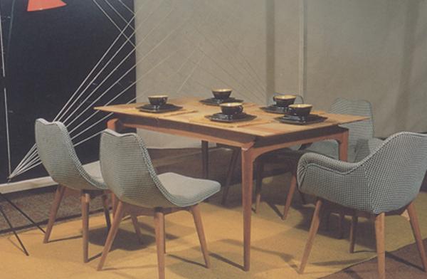 D350 Contour dining setting, 1951