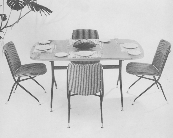 Arabesque dining setting, 1958