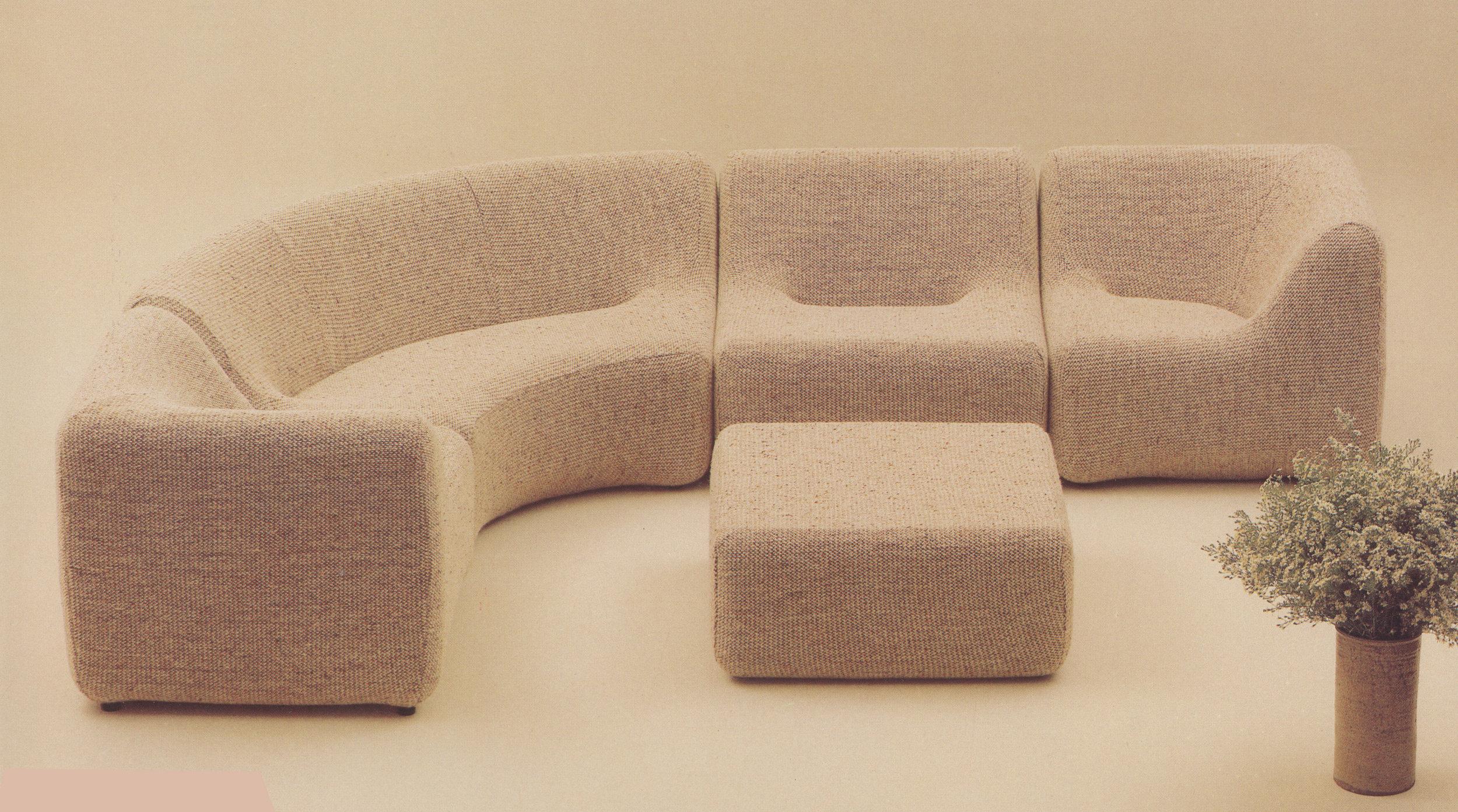 Numero VII furniture range, 1973
