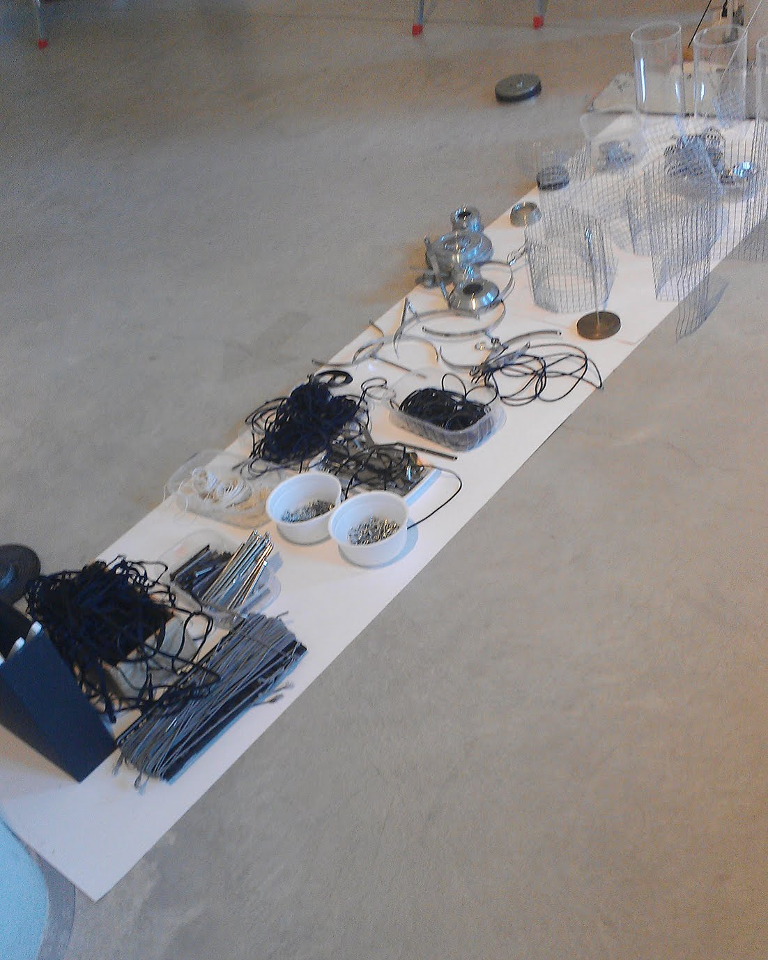 Materials for 'Aeroplastico' in Loris Malaguzzi International Centre