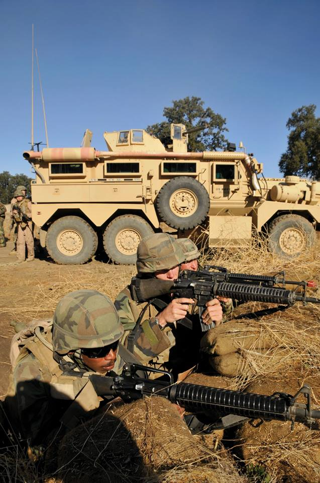 2011:   Seabees assigned to Naval Mobile Construction Battalion (NMCB) 40, defended their camp in a simulated firefight as part of their final evaluation during a training exercise at Forth Hunter Liggett, California. NMCB 40 was participating in its final field training exercise and evaluation before their upcoming U.S. Pacific Command deployment in November. The battalion was scheduled for decommission at the conclusion of their deployment in September 2012. (Courtesy of U.S. Navy Seabee Museum)