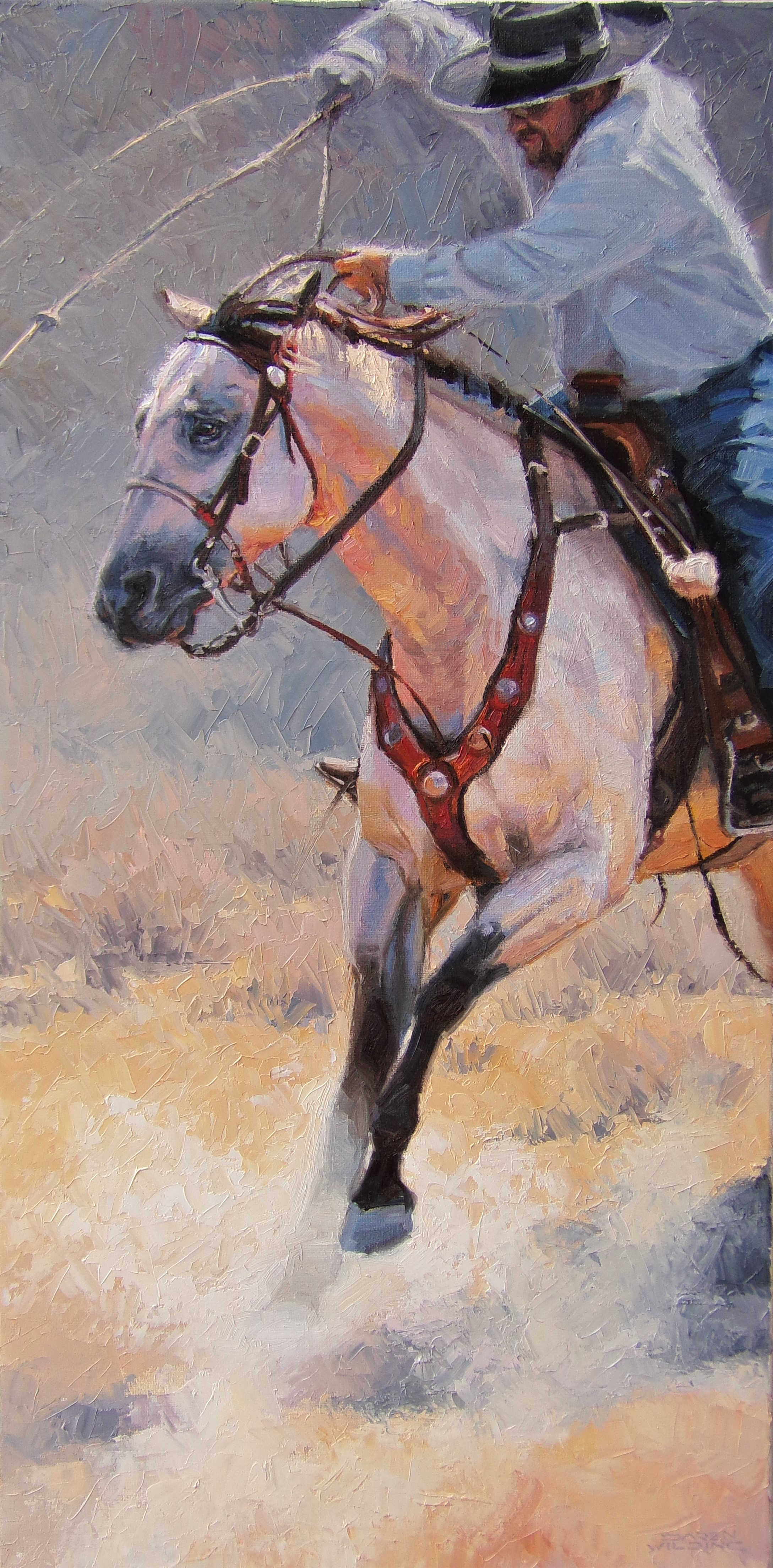"""""""Closing in"""" - 15x30"""" oil on canvas"""