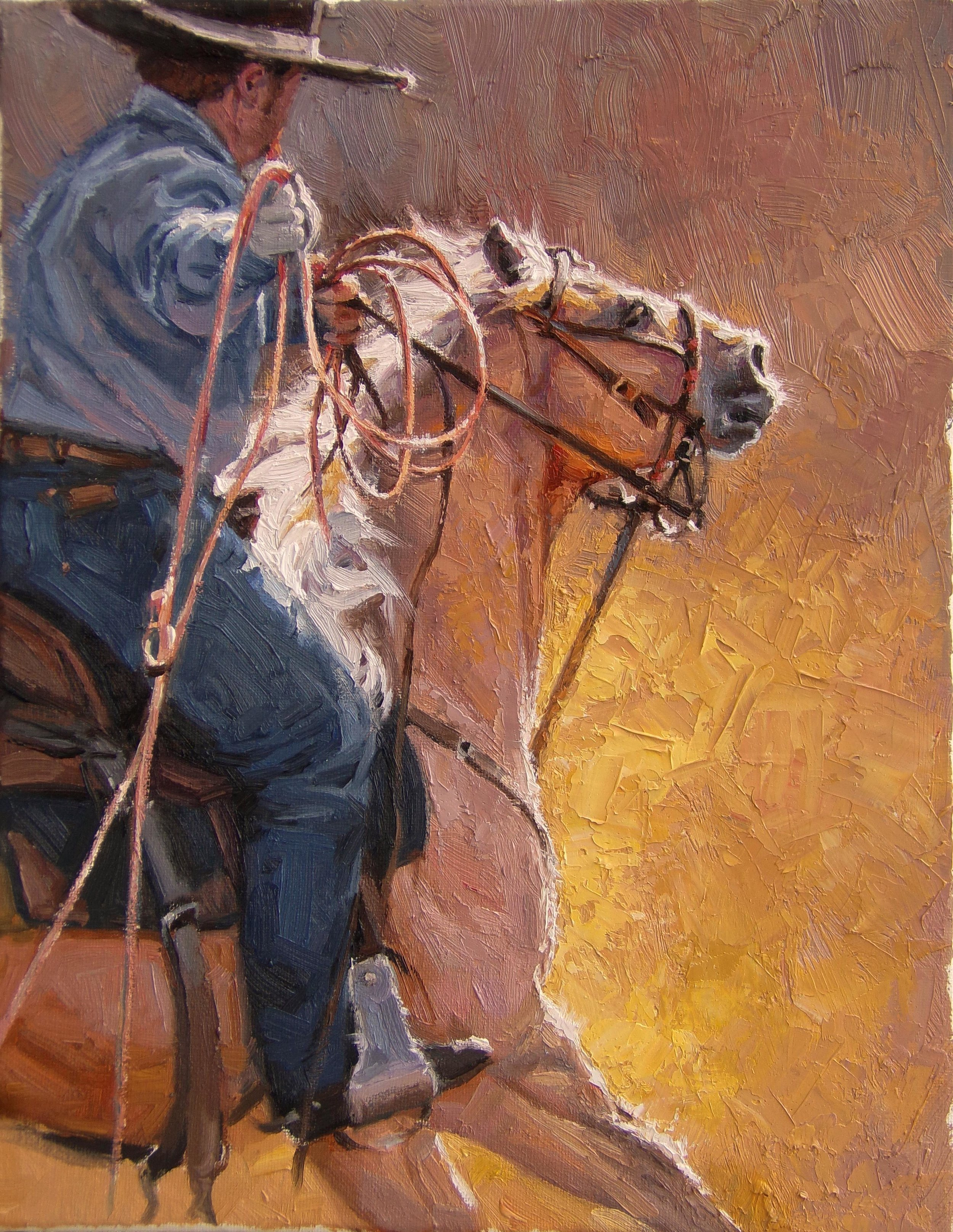 """""""Waiting his turn"""" - 11x14"""" oil on canvas"""