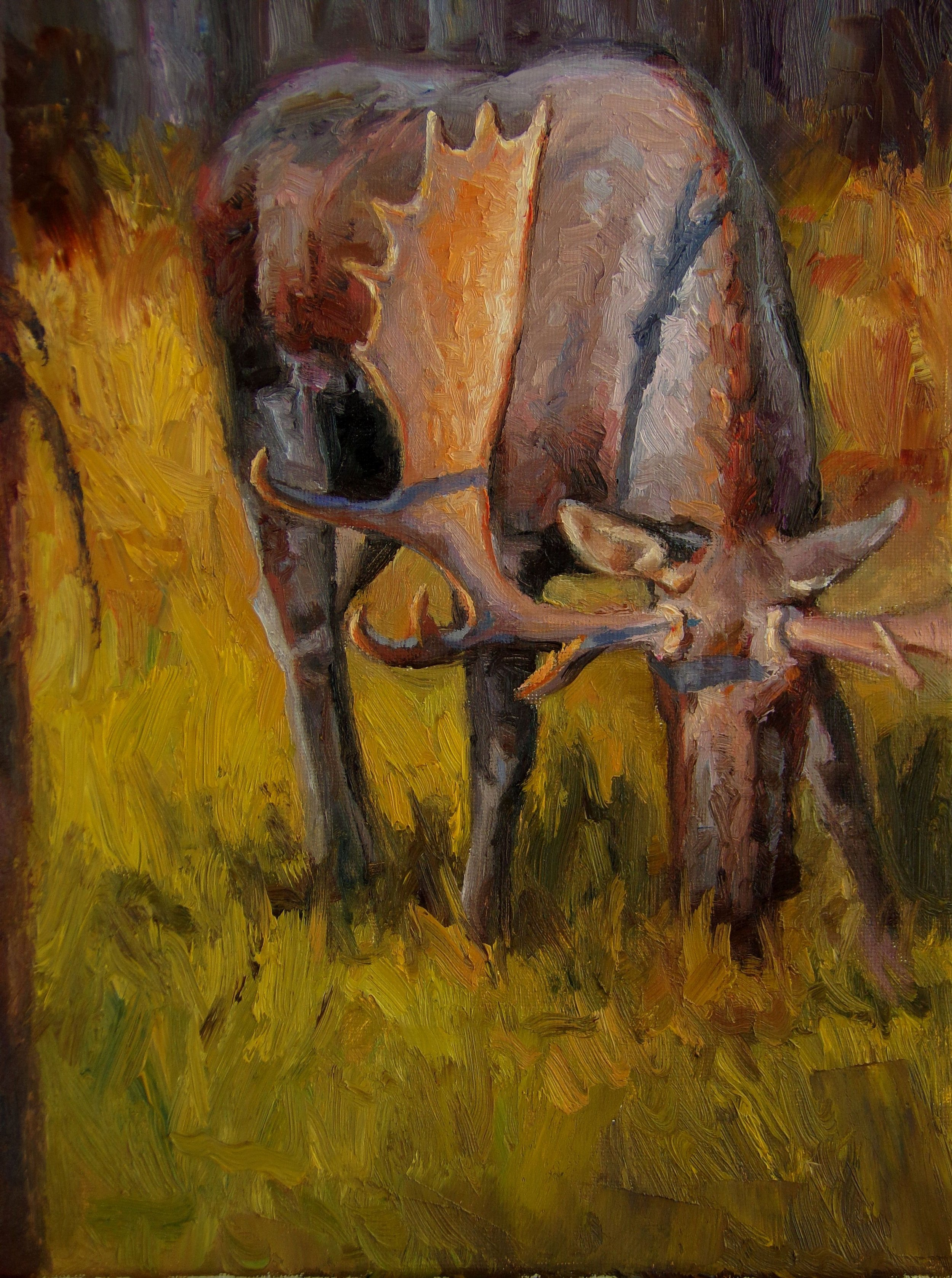 """""""Evening Meal"""" - 9x12"""" oil"""