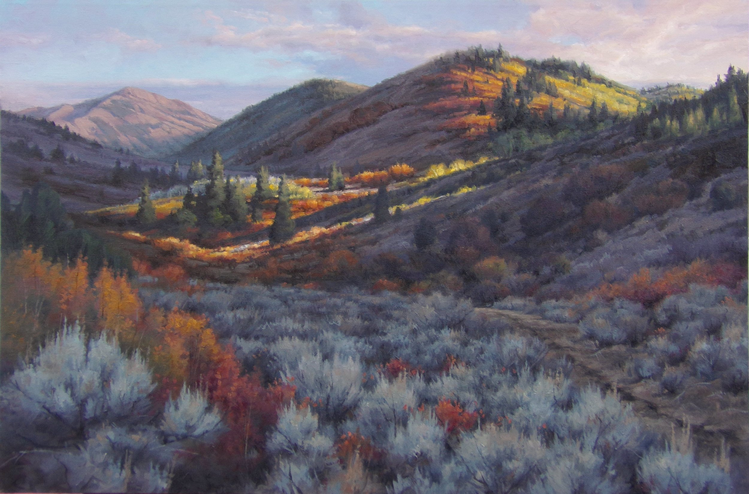 """East Fork Trail"" - 24x36"" oil"